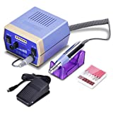 Nail Drill Machine 30000RPM, 2019 Updated Electric File Grinder Manicure Pedicure Tool Bits Set with Low Noise, Vibration and Heat