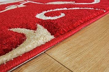 3 tapis moderne rouge et et beige avec motif fleurs fleurs 4 tailles cuisine maison. Black Bedroom Furniture Sets. Home Design Ideas