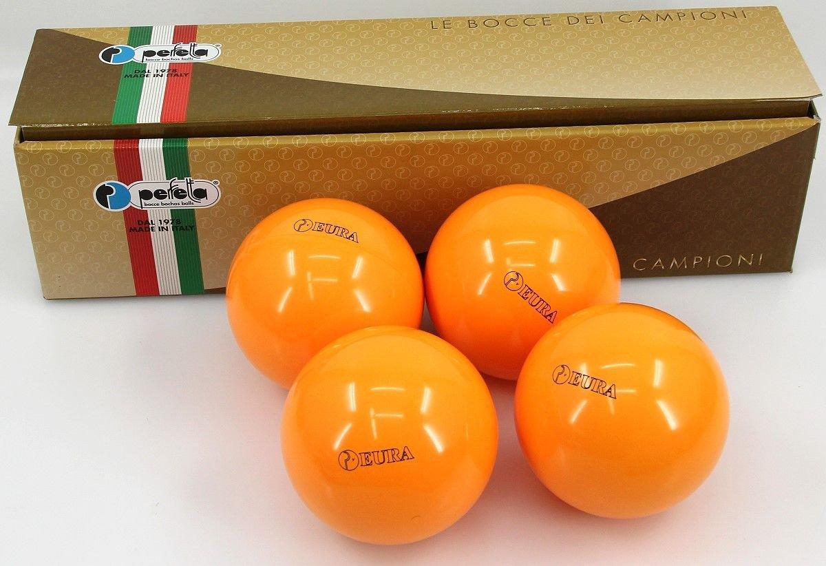Perfetta EURA ORANGE Wettkampf Boccia Kugeln (4er Satz) in auffälligem Orange günstig