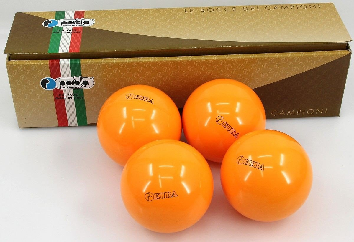 Perfetta EURA ORANGE Wettkampf Boccia Kugeln (4er Satz) in auffälligem Orange
