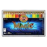 KOH-I-NOOR MAGIC Jumbo Triangular Coloured Pencil (Pack of 24)