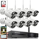 ?2018 Update?OOSSXX 8-Channel HD 1080P Wireless System/IP Security Camera System 8Pcs 960P 1.3 Megapixel Wireless Indoor/Outdoor IR Bullet IP Cameras,P2P,App, HDMI Cord & 2TB HDD Pre-Install (Color: HD 8 Channel 1080P System+ 8Pcs 960P Cameras + 2TB HDD)