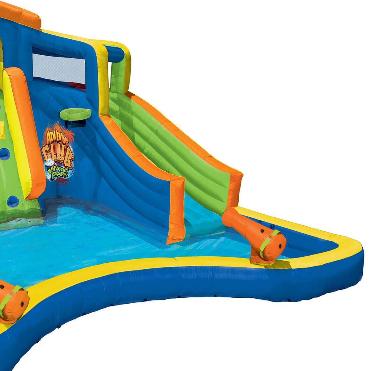 Banzai Inflatable Adventure Club Dual Slide and Pool Backyard Water Park