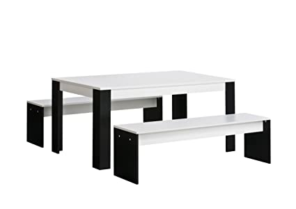 Maja 40923537 Sitzgruppe 1.600 x 760 x 1.640 mm weiß uni - schwarz