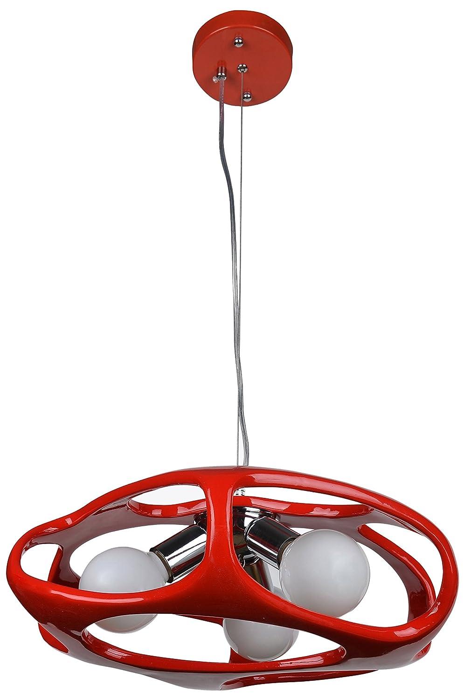 Lampex 324/3 CZE Hängeleuchte Amano, rot