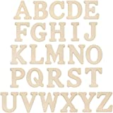 Bright Creations MDF 6 Inch Wood A-Z Alphabet Letters (26 Count) (Color: Letters A-Z Alphabet, Tamaño: 26 Count)