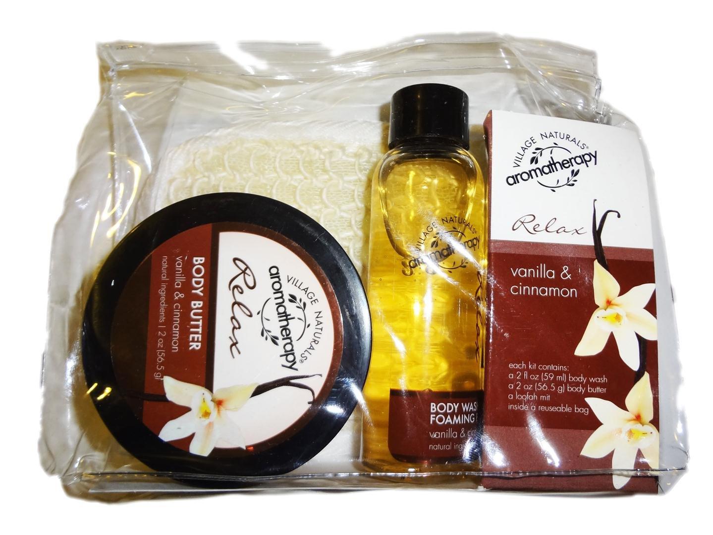 Village Naturals Aromatherapy Relax Vanilla & Cinnamon Trial Kit