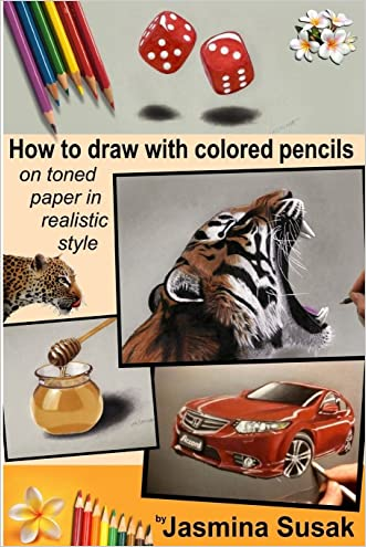 How to draw with colored pencils on toned paper: in realistic style