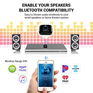 Etekcity Bluetooth Receiver, NFC-Enabled Bluetooth Audio