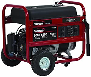 Powermate PM0435005 vs PM0105007Vx 6250 Watt Portable Generator Comparison