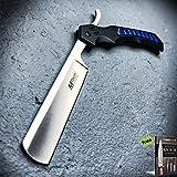 TACTICAL Straight Blade Barber Razor Folding Pocket Carbon Steel Razor Sharp Knife Shaving Cut Throat + eBook by SURVIVAL STEEL