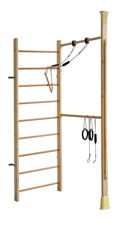 Kletterdschungel Holz Sprossenwand Indoor Sportgerät mit Reck und Schaukel kaufen