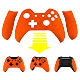 eXtremeRate Orange Soft Touch Front Shell Faceplate with Left Right Grip Panel Handle Side Rails for Microsoft Xbox One Controller (Color: Soft Touch Orange)