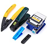 5 in 1 FTTH Fiber Optic Tool Kit FC-6S Fiber Cleaver Fiber Stripping Pliers to Fiber Cold Connection (Color: Green, Tamaño: Small)