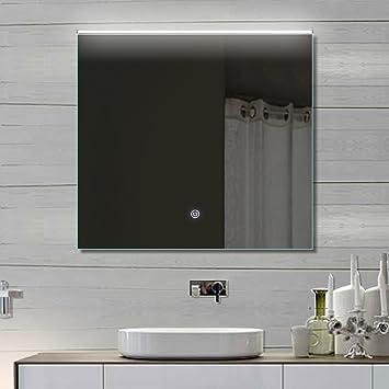 Bagno specchio da parete specchio luce led touch interruttore tonalità fredda/calda luce regolabile 72x 70cm thl72X 70