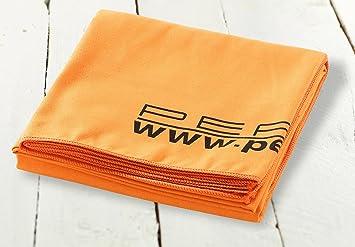 pearl serviette de bain bain absorbante microfibre 180 x 90 cm orange cuisine orange. Black Bedroom Furniture Sets. Home Design Ideas