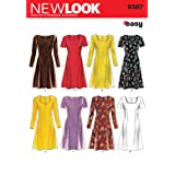 New Look Sewing Pattern 6567 Misses Dresses, Size A (6-8-10-12-14-16) (Tamaño: A (6-8-10-12-14-16))