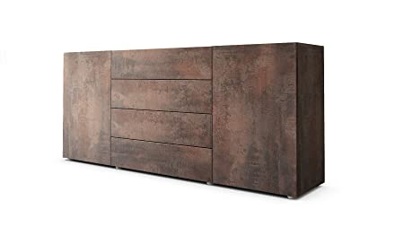 Sideboard Kommode Massa 166 in Stahlfarbe antik