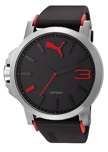 Esprit PU102941003 A.PU102941003 - Reloj analógico de cuarzo para hombre, correa de plástico color negro