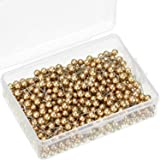 500 Pack Map Push Pins Map Tacks Small Size (Gold, 1/5 Inch) (Color: Gold, Tamaño: 1/ 5 Inch)