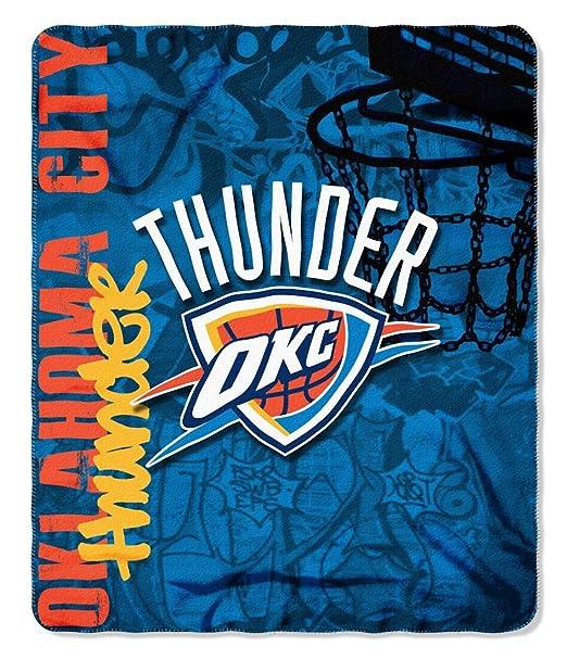 Oklahoma City Thunder 50x60 Fleece Blanket - Hard Knock Design
