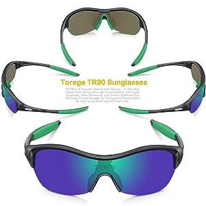 633b067c84 TOREGE Tr90 Flexible Kids Sports Sunglasses Polarized Glasses Junior Boys  Girls Age 3-15 Trk001 (Transparent ...
