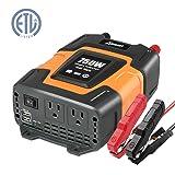 Ampeak 750W Power Inverter DC 12V to 110V AC Converter with 3.1A Dual USB Inverter