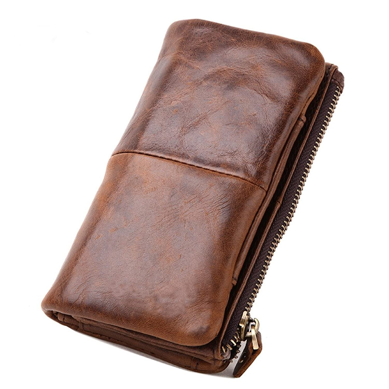 Leather Organizer For Men Le'aokuu Mens Genuine Leather