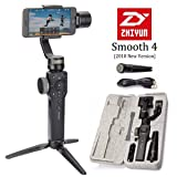 Zhiyun Smooth 4 3-Axis Handheld Gimbal Stabilizer, Upgraded Phone Camera Video Tripod w/Focus Pull&Zoom Vertigo Shot for iPhone X/8 Plus/7/SE Samsung Galaxy S9+/S8/S7/S6 Huawei etc Smartphones(Black) (Color: Smooth 4-Black)
