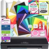 Silhouette Black CAMEO 3 Creative Bundle with Bluetooth, 12 Oracal, 651 Sheets and 12 Siser Easyweed Heat Transfer Sheets (Color: Black)