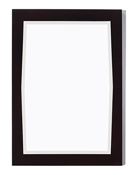 American Imaginations 400 24-Inch by 34-Inch Rectangle Wood Framed Mirror, Antique Walnut Finish