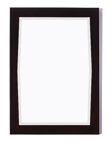 American Imaginations AI-10-400 Transitional Birch Wood-Veneer Wood Mirror, 24-Inch x 34-Inch, Antique Walnut Finish
