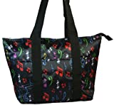 Womens Large Insulated Lunch Bag Tote in Choice of Prints Zebra, Flower, Damask, Music or Retro Print (Music Lovers)