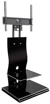 My Wall HP2AL - Mobiletto Home Theater con supporto per schermi piatti da 81 cm (32 pollici) fino a 152 cm (60 pollici), girevole +/-15, colore: Nero
