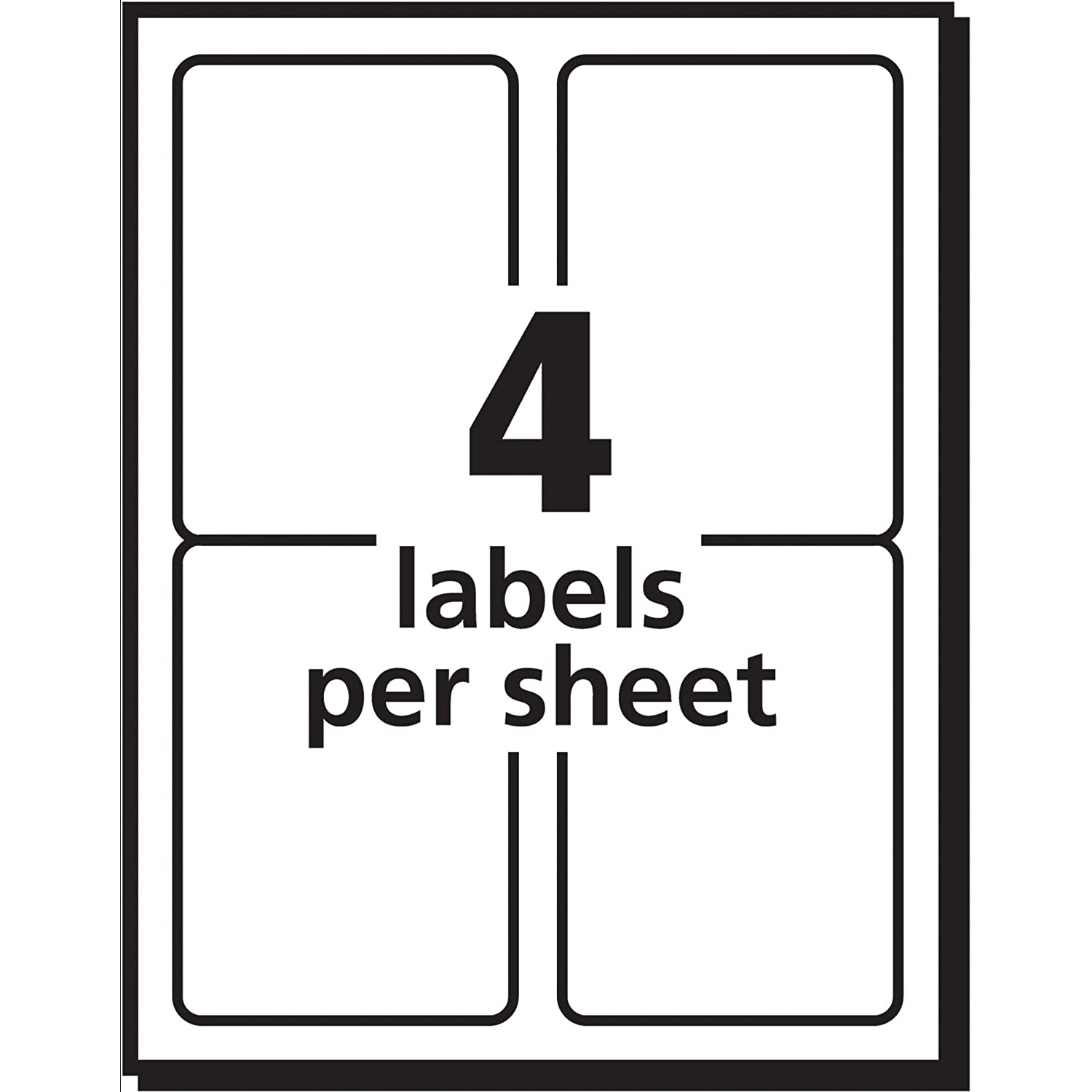 avery shipping labels for inkjet printers 3 5 x 5 inches box of 100 8168 n 72782081683 ebay. Black Bedroom Furniture Sets. Home Design Ideas