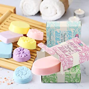 DIY Melt & Pour Shea Butter Soap Making Kit by CraftZee: Includes 4 Fragrances, 4 Liquid Dye, 4 Soap Boxes and 2 Plastic Molds | Make Your own Soap Set | All Natural, Handmade and Homemade Bar Soap