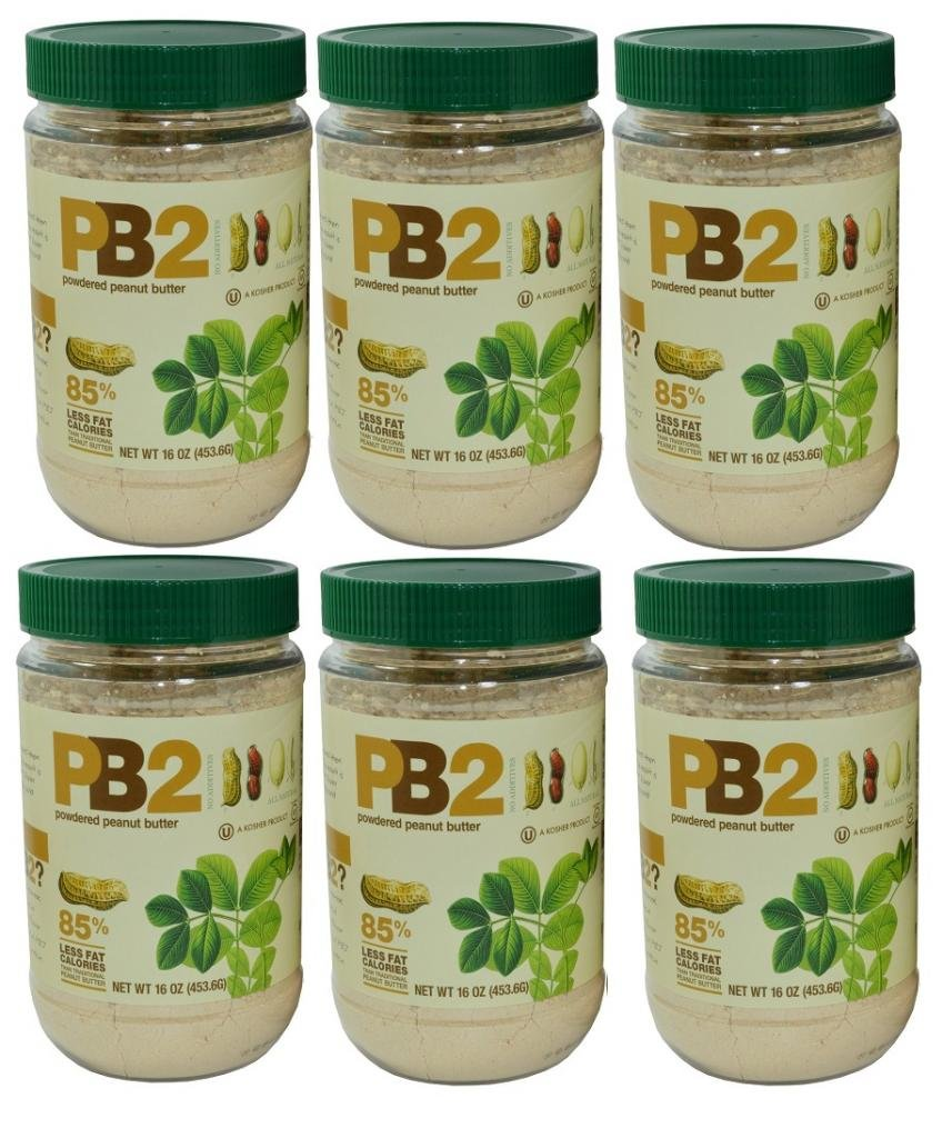 PB2 Powdered Peanut Butter 1 Lb Jar, 6 Pack