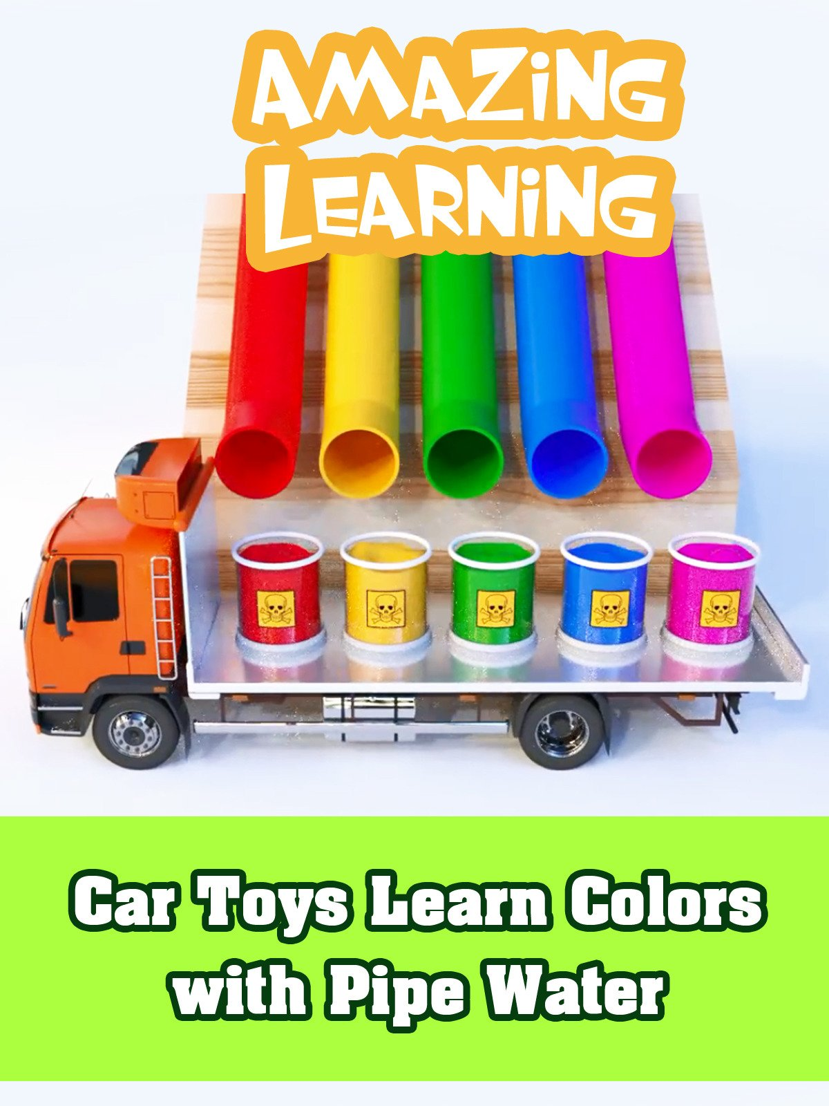 Car Toys Learn Colors with Pipe Water