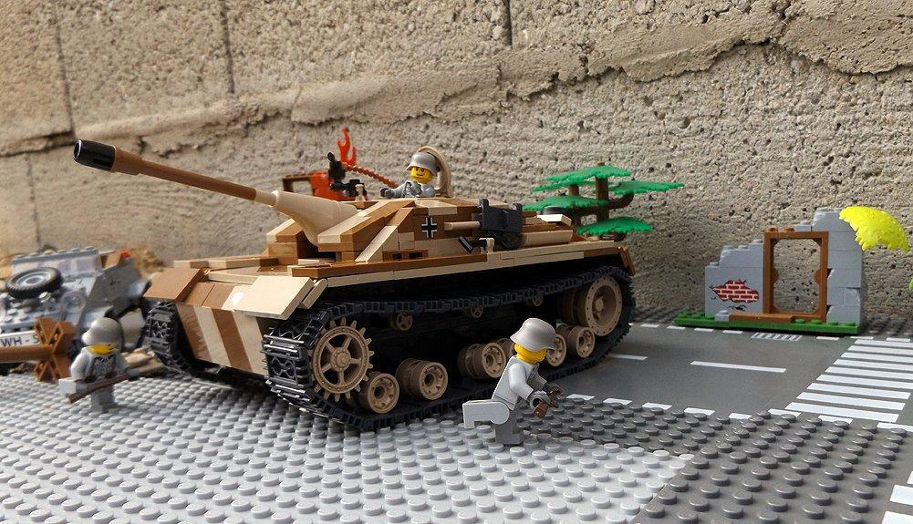 Modbrix 2465 – ✠ Bausteine Jagd Panzer STURMGESCHÜTZ III AUSF. G Panzer inkl. custom Wehrmacht Soldaten aus original Lego© Teilen ✠ günstig