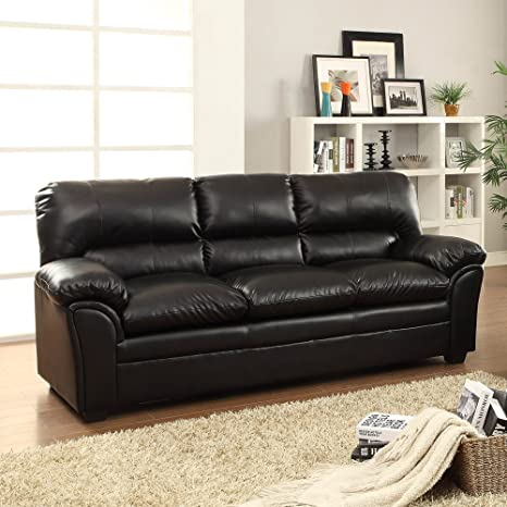 Homelegance Talon Sofa in Black Leather