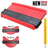 Upgraded Widening Style Contour Gauge Duplicator 10 Inch Profile Gauge Shape Duplicator Copying Tool, Contour Gauge Duplicator 10 Inch Precisely Copy Irregular Shapes (Red Wider) (Color: Red)