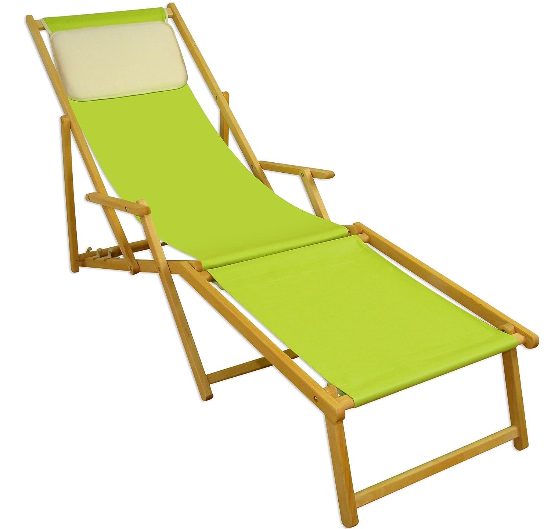 Sonnenliege Gartenliege Deckchair Saunaliege inkl. abnehmbarem Fußteil Beige bestellen