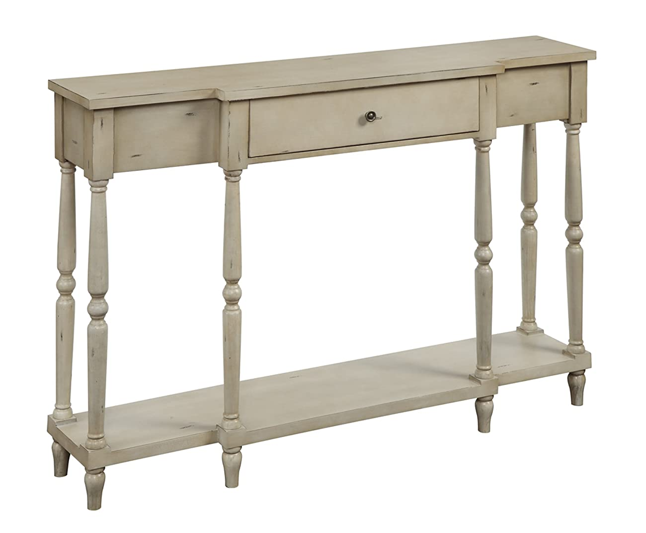 Convenience Concepts Wyoming Antique Console, Antique Ivory 2