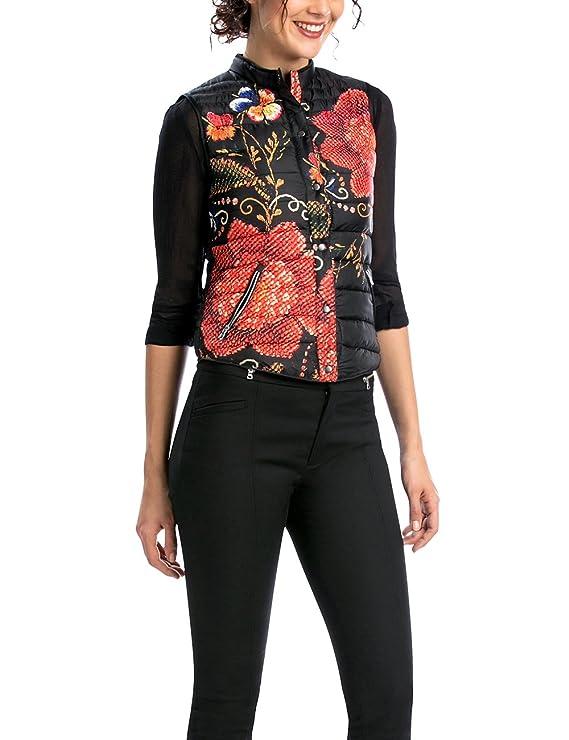 Desigual Women's Woven Overcoat with Flower Print