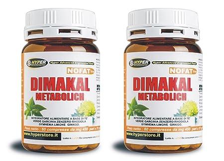 2 Pakete Dimakal Metabolich Fatburner-Diät, 60 Tabletten - Brennen Sie Fett schnell - Gewicht verlieren und 100% Natural Weight Loss, Fett zu verbrennen mit grunem Tee, Garcinia, Ingwer, Rhodiola, Zitrone, Ginko