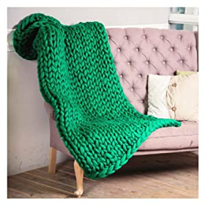 clootess Chunky Merino Wool Yarn Bulky Big Roving for DIY Hand Made Knit Blanket Throw - Green 5 lbs (Color: Green, Tamaño: 5 lbs)