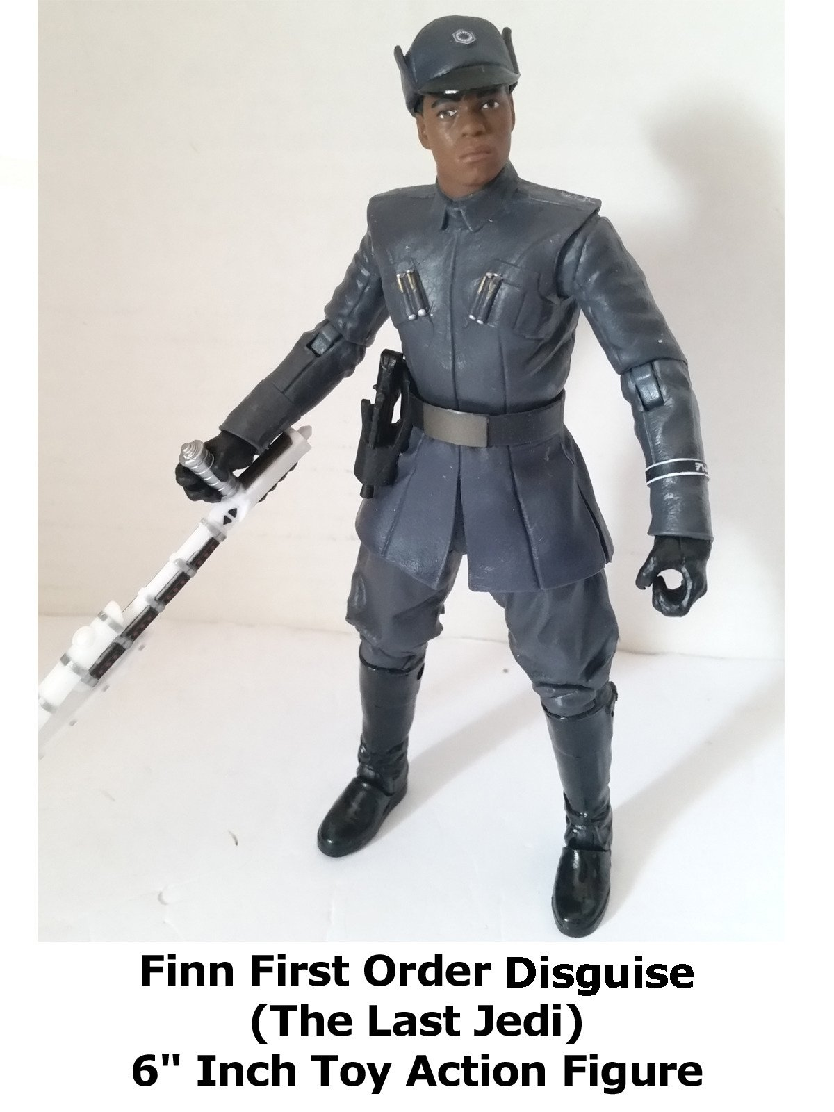 "Review: Star Wars Black Series Finn First Order Disguise (The Last Jedi) 6"" Inch Toy Action Figure"
