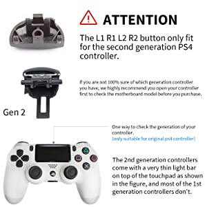 Z&Hveez Metal Buttons for PS4 Controller Gen 2, Metal