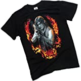 AMC Daryl - Bazooka Aftermath - Front/Back The Walking Dead T-Shirt, XX-Large (Color: Black, Tamaño: XX-Large)