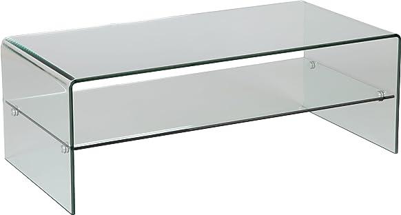 Tavolino Vetro Curvo 1raggio